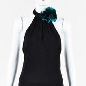 Gucci Halter silk flower top